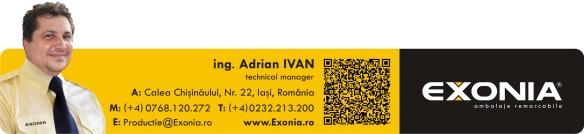 Adrian IVAN - director tehnic Fabrica De Ambalaje Exonia