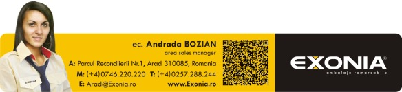 Andrada BOZIAN - reprezentant vanzari zona Vest Fabrica De Ambalaje Exonia