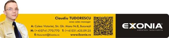 Claudiu TUDORESCU - reprezentant vanzari zona Bucuresti Fabrica De Ambalaje Exonia