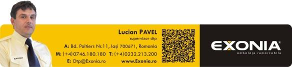 Lucian PAVEL, supervisor DTP Fabrica De Ambalaje Exonia