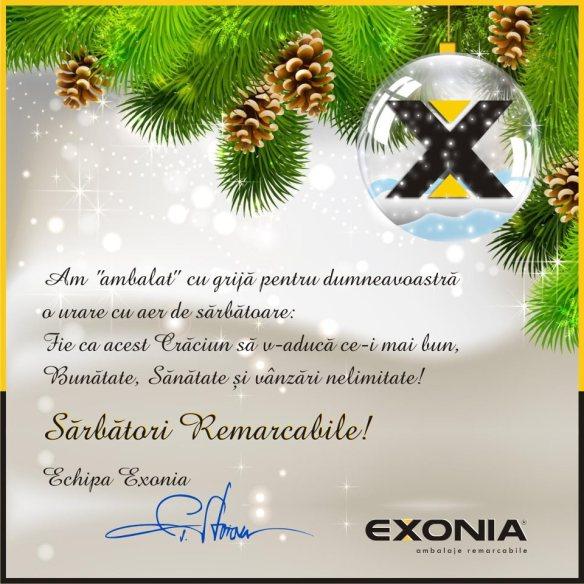 Exonia Holding va ureaza Sarbatori Fericite!