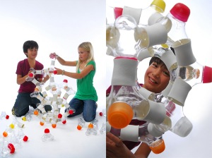 Sticla de apa tip joc Lego de la Y Water