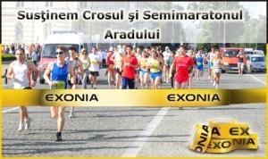 Exonia Holding sustine Crosul si Semimaratonul Aradului