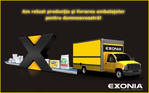 Fabrica De Ambalaje Exonia reincepe productia si livrarea!