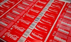 Etichete bopp - campania Imparte o Coca-Cola postata de Fabrica De Ambalaje Exonia Holding