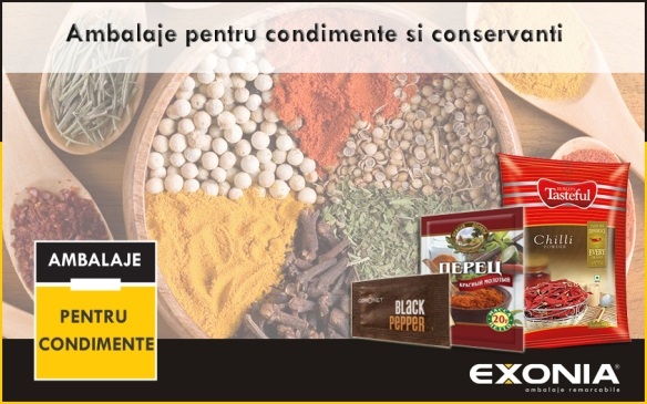 Ambalaje pentru condimente si conservanti