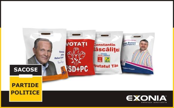 Sacose personalizate pentru partide politice si campanii elector