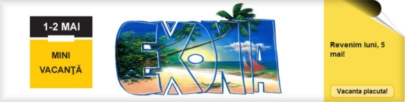 Banner Mini Vacanta de 1 mai Exonia Holding