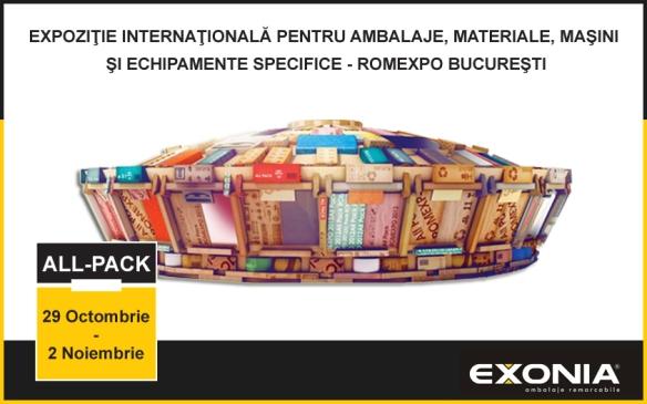 Exonia Holding expozant la ALL-PACK Romexpo Bucuresti 2014