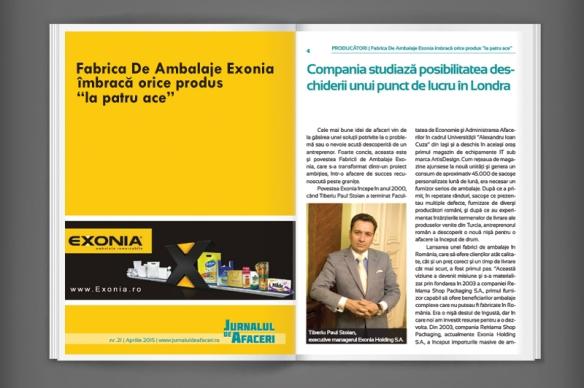 Exonia Holding in Jurnalul de Afaceri