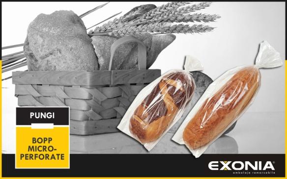 Pungi BOPP microperforate pentru ambalare paine