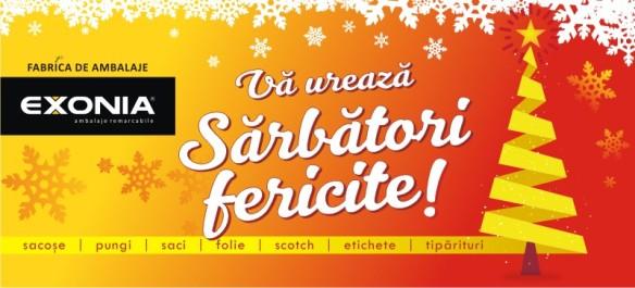Echipa Fabricii De Ambalaje EXONIA va ureaza Sarbatori Fericite!