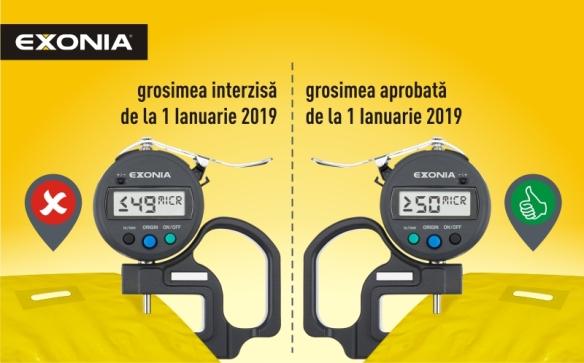 Grosimea minima a sacoselor de la 1 ianuarie 2019 este 50 de microni